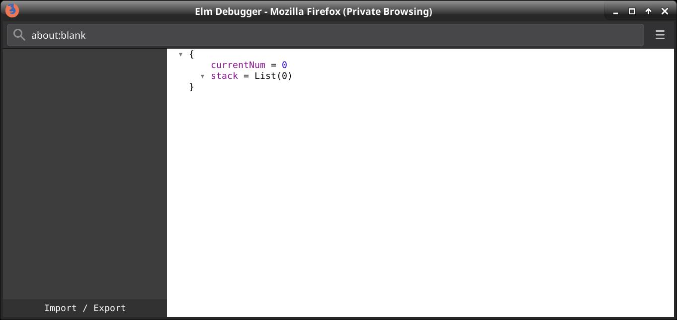Elm Debugger Window
